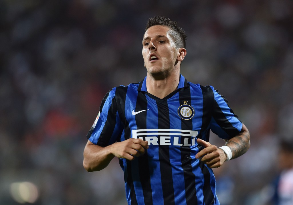 MODENA, ITALY - AUGUST 30: Stevan Jovetic of FC Internazionale Milano in action during the Serie A match between Carpi FC and FC Internazionale Milano at Alberto Braglia Stadium on August 30, 2015 in Modena, Italy. (Photo by Giuseppe Bellini/Getty Images)