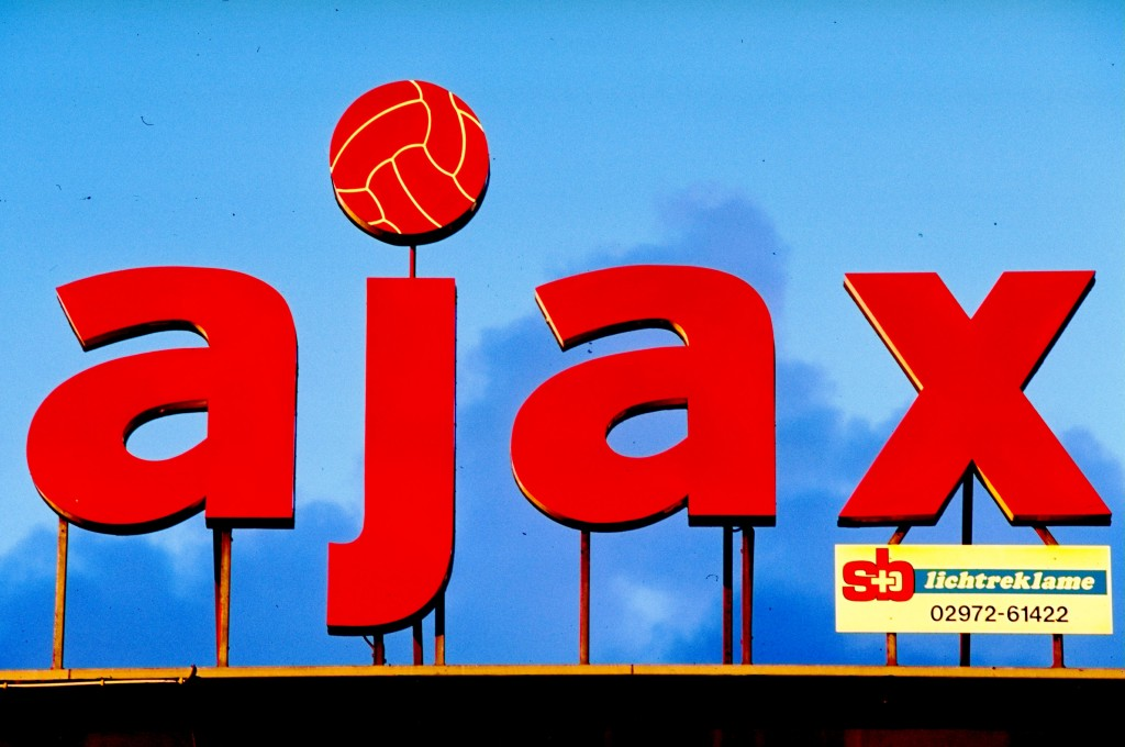 March 1996: General view of the Ajax sign out side the stadium in Amsterdam, Holland. Mandatory Credit: Gary M Prior/Allsport