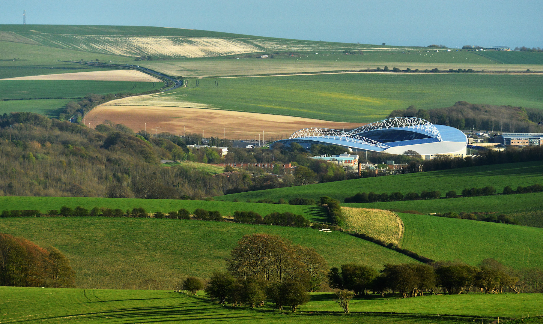 General Views Of Amex Stadium, home To Brighton & Hove Albion at Amex Stadium on April 22, 2013 in Brighton, England.