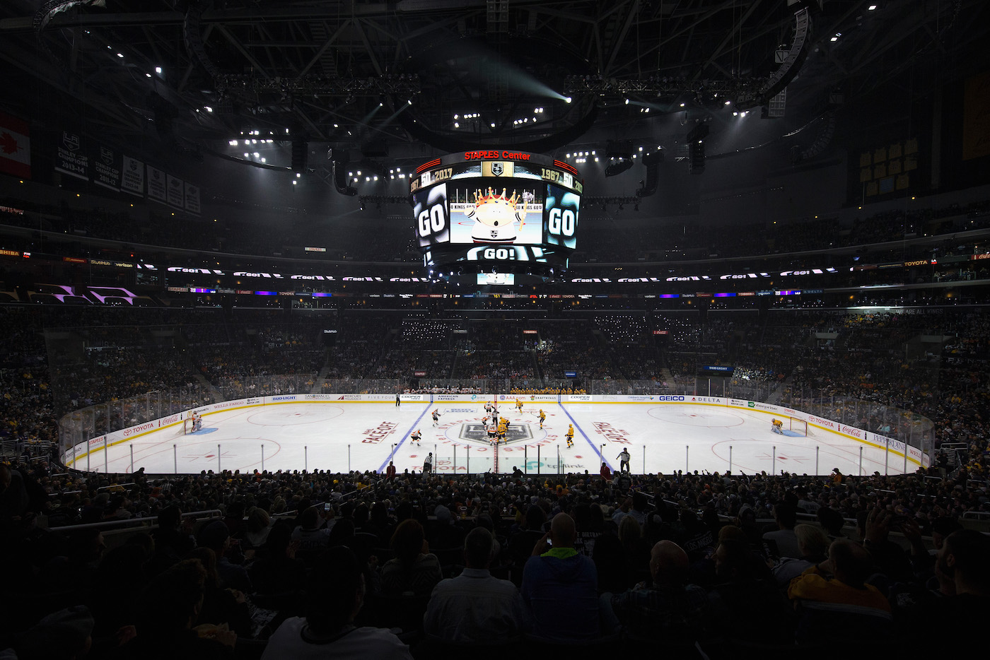 Il ghiaccio allo Staples Center  Sean M. Haffey/Getty Images)