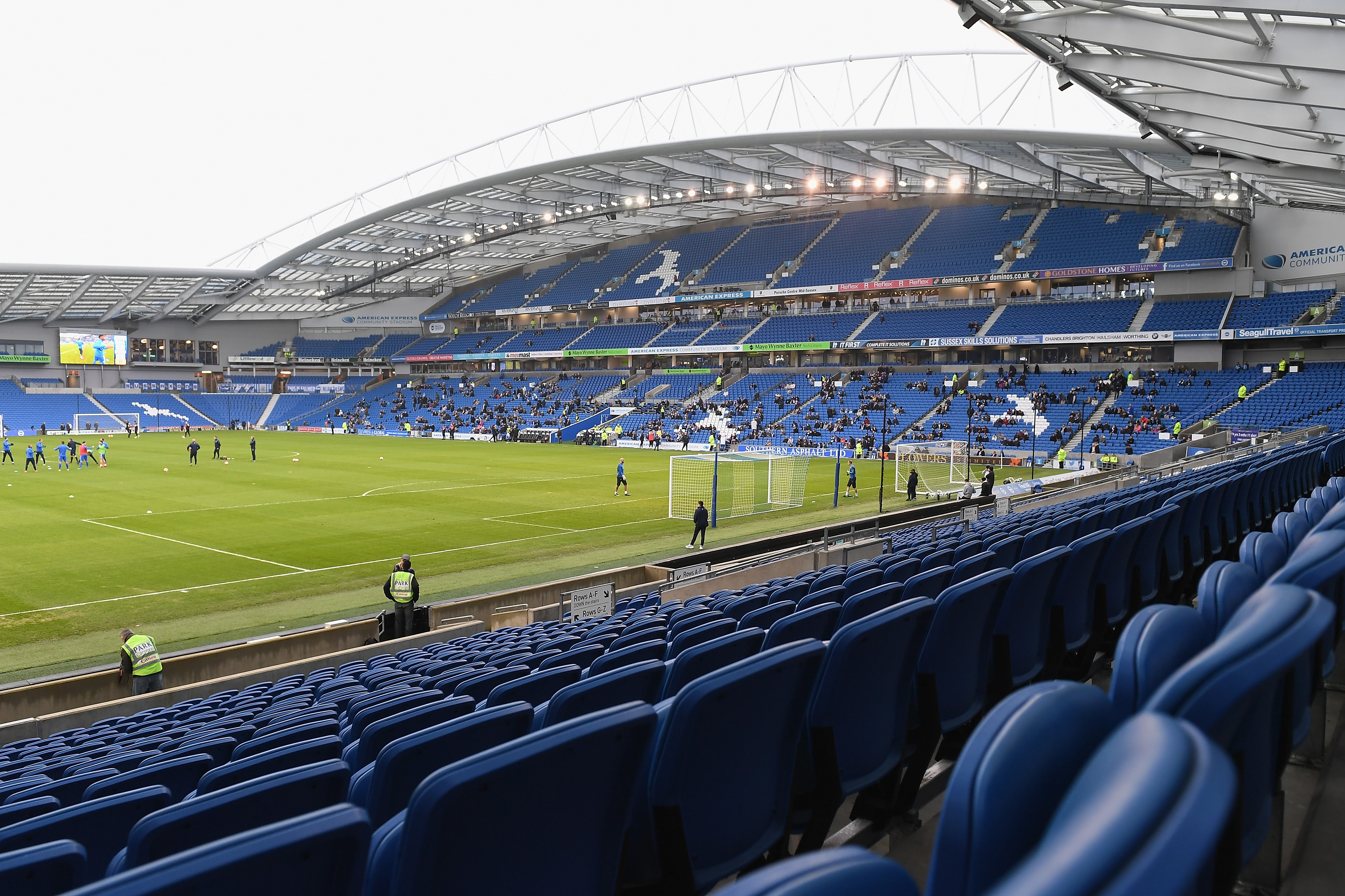 BRIGHTON, ENGLAND - JANUARY 07: A crowd of only 10,000 is expected for The Emirates FA Cup Third Round match between Brighton & Hove Albion and Milton Keynes Dons at Amex Stadium on January 7, 2017 in Brighton, England. (Photo by Mike Hewitt/Getty Images)
