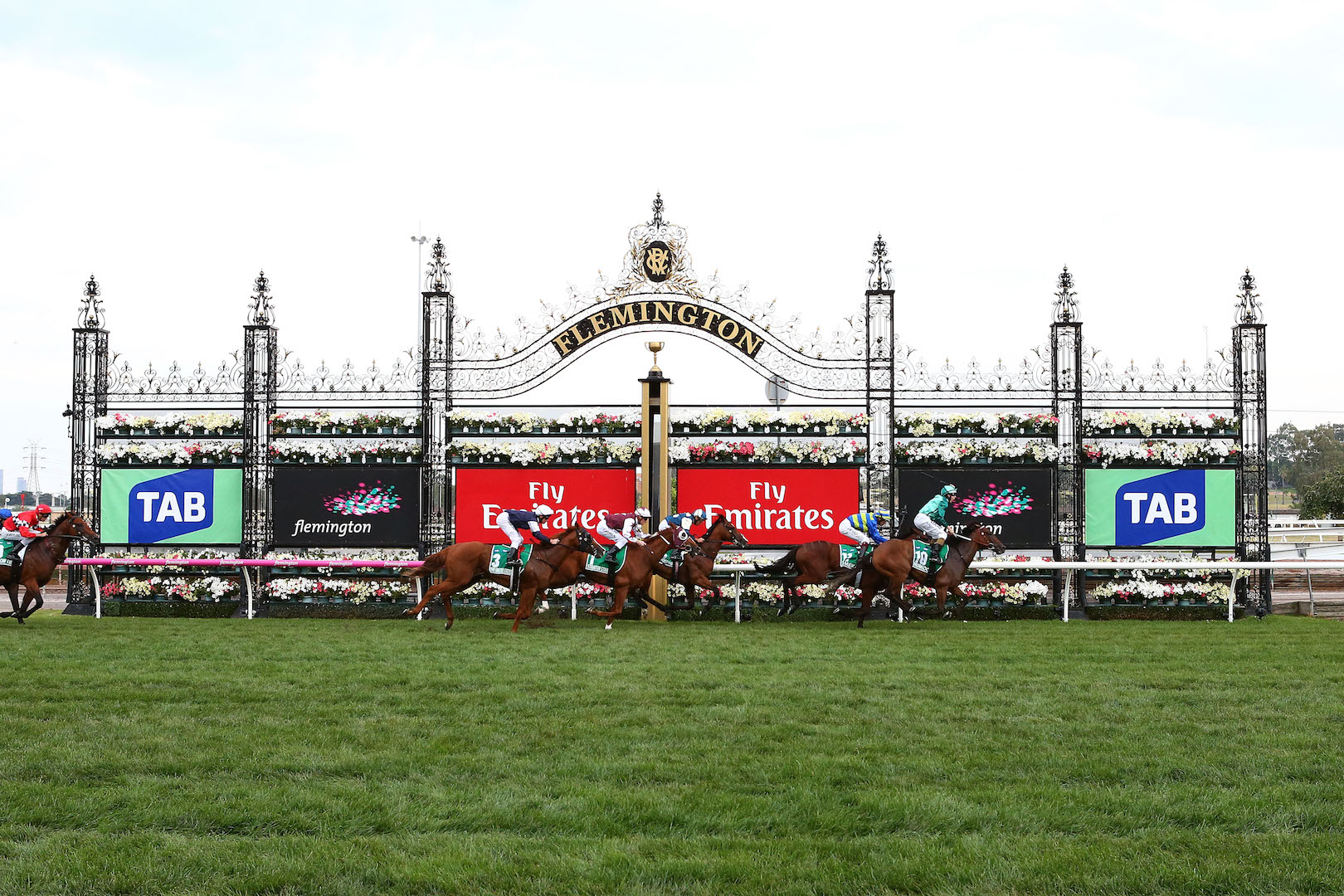 MELBOURNE, AUSTRALIA - MARCH 11: Humidor ridden by Damien Lane crosses the line winning Race 8, the TAB Australian Cup at Flemington Racecourse on March 11, 2017 in Melbourne, Australia. (Photo by Jack Thomas/Getty Images)