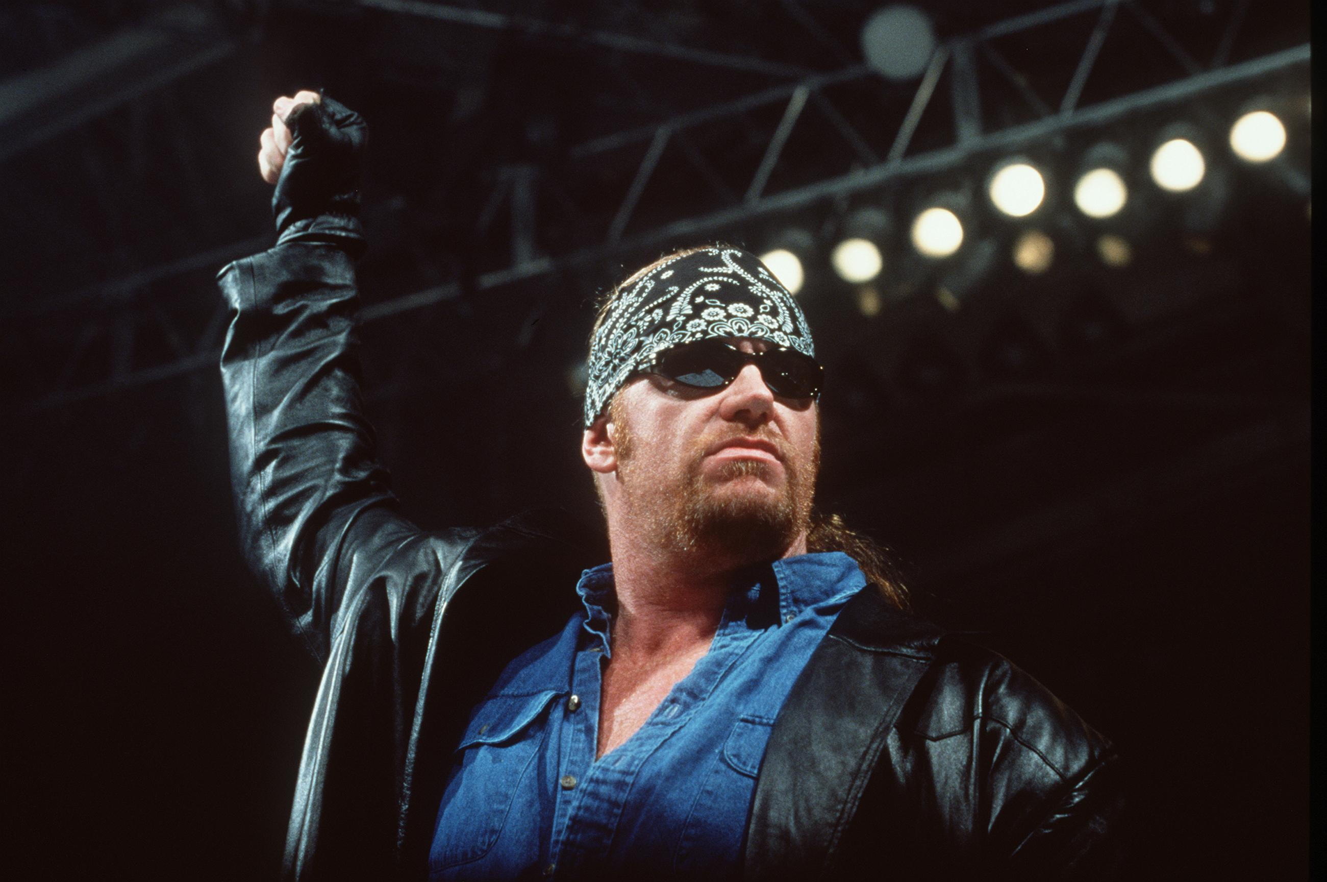 World Wrestling Federation's Wrestler Undertaker Poses June 2000 In Los Angeles Ca