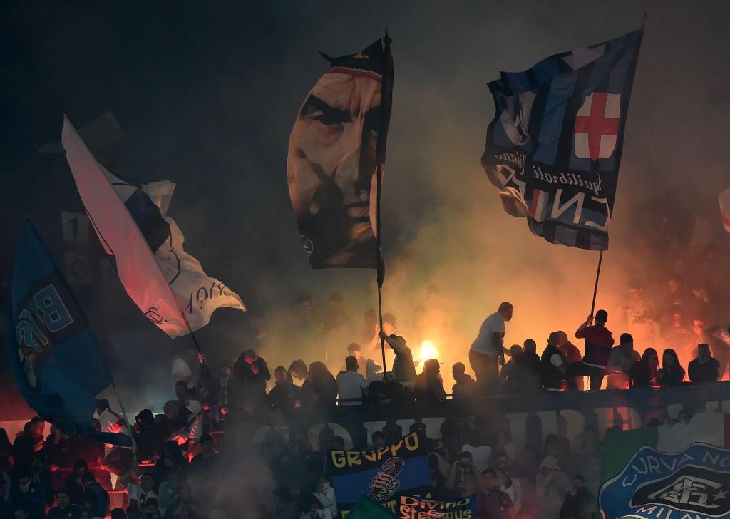 La Curva Nord interista durante Inter-Milan, aprile 2015. Giuseppe Bellini/Getty Images