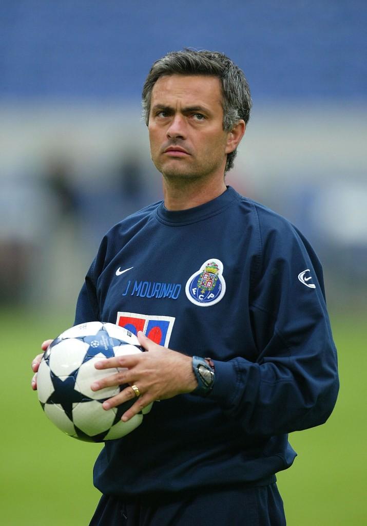 Mou nel prepartita della finale di Champions League 2004. Stuart Franklin/Getty Images