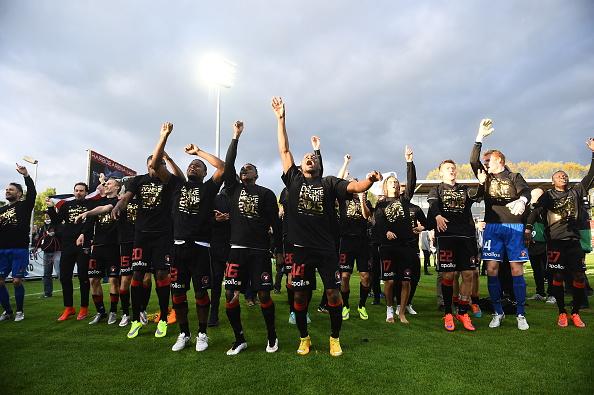 I festeggiamenti per la vittoria, il 21 maggio. Lars Ronbog/Getty Images
