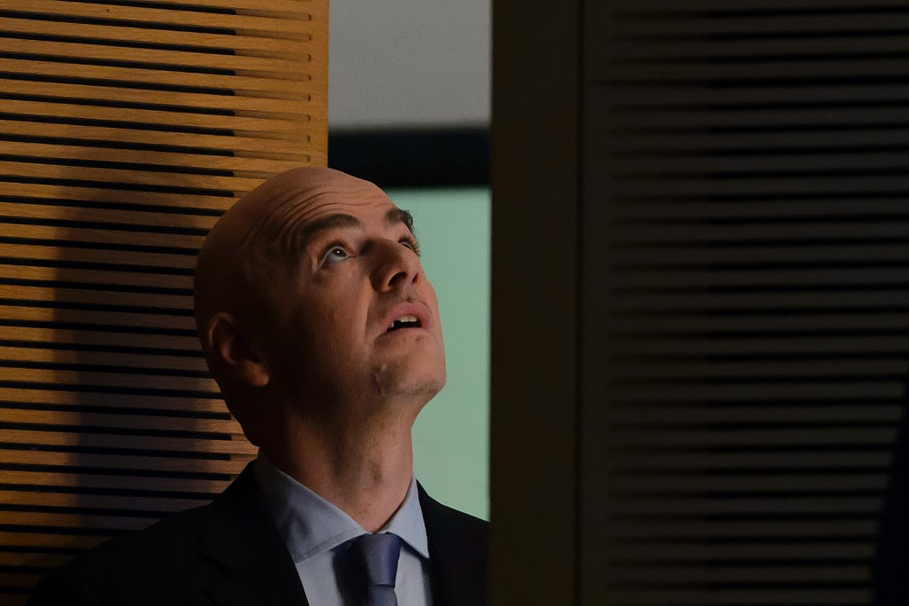 Gianni Infantino a Nyon nel 2015 (Fabrice Coffrini/Afp/Getty Images)