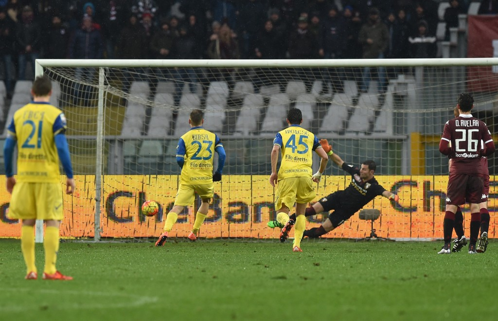 during the Serie A match between Torino FC and AC Chievo Verona at Stadio Olimpico di Torino on February 7, 2016 in Turin, Italy.