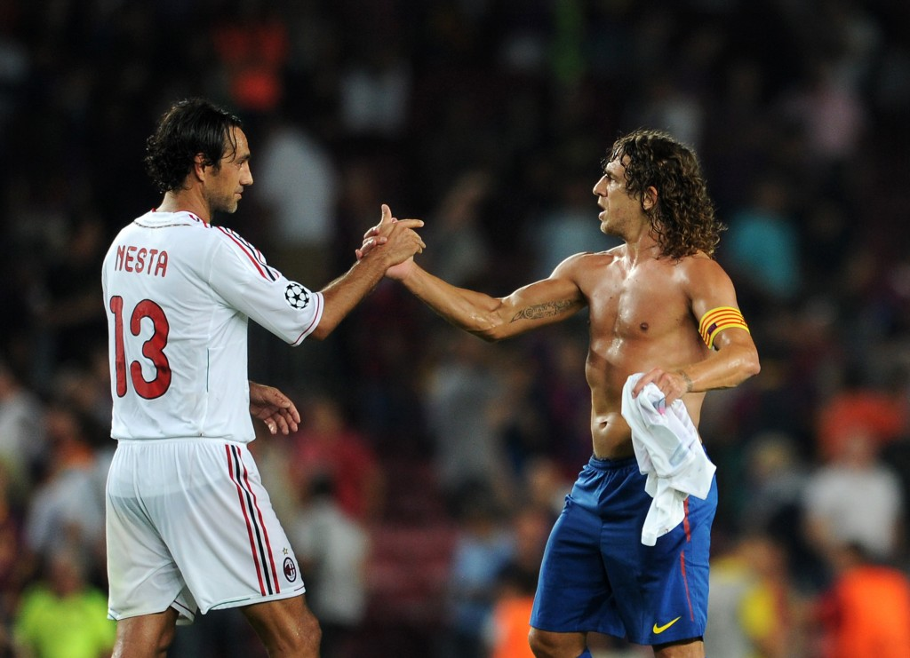 Con Carles Puyol, a Barcellona nel 2011. Jasper Juinen/Getty Images