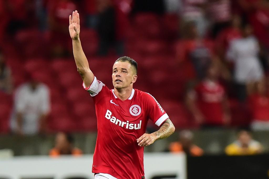 Libertadores 2015, Andrés ha appena segnato contro la U de Chile (Vinicius Costa/Afp/Getty Images)