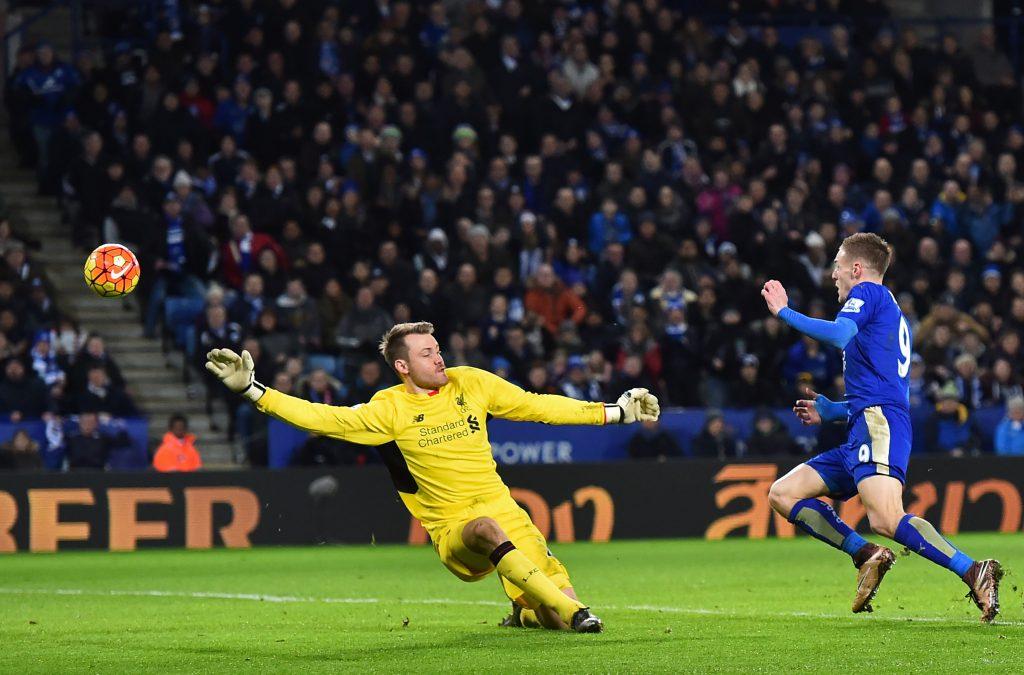 Il gol di Jamie Vardycontro il Liverpool (Ben Stansall/Afp/Getty Images)