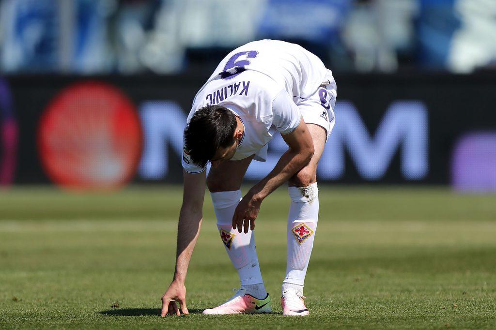 Nikola Kalinic durante la partita di Empoli (Gabriele Maltinti/Getty Images)