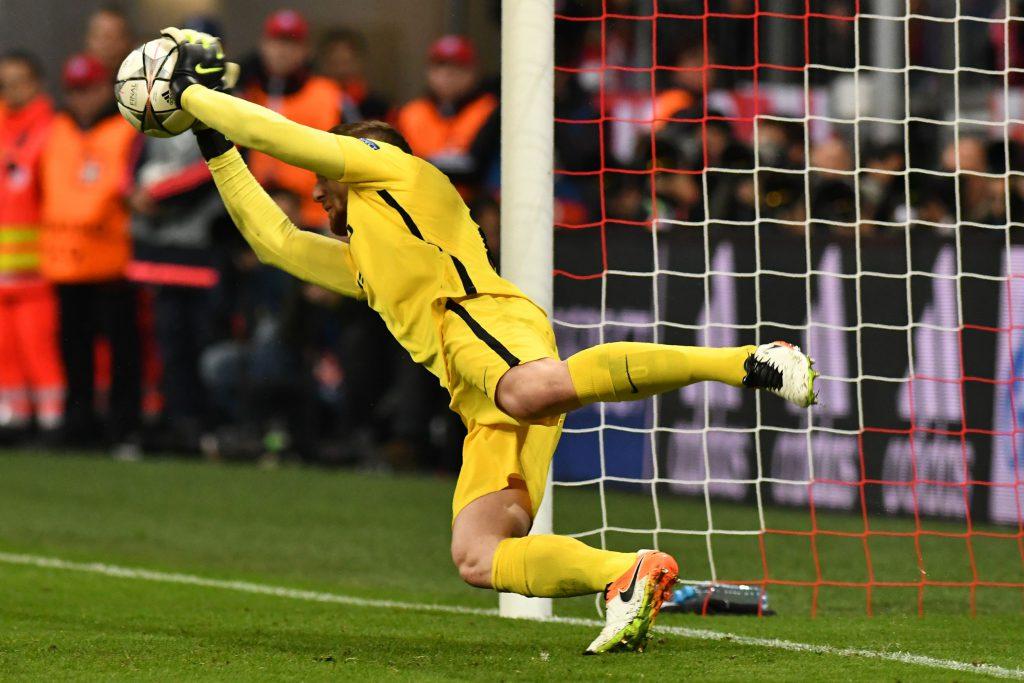 Il rigore parato da Oblak a Muller nella semifinale di ritorno di Champions (Lukas Barth/AFP/Getty Images)