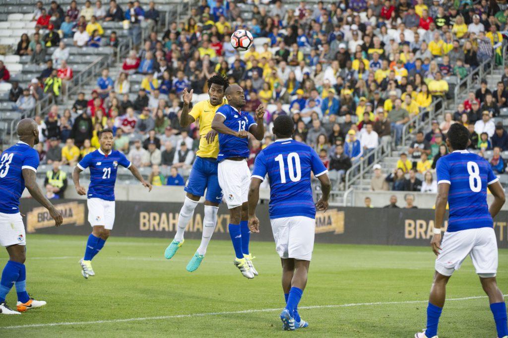 Un momento dell'amichevole tra Panama e Brasile del 29 maggio, finita 2-0 per i verdeoro (Jason Connolly/AFP/Getty Images)