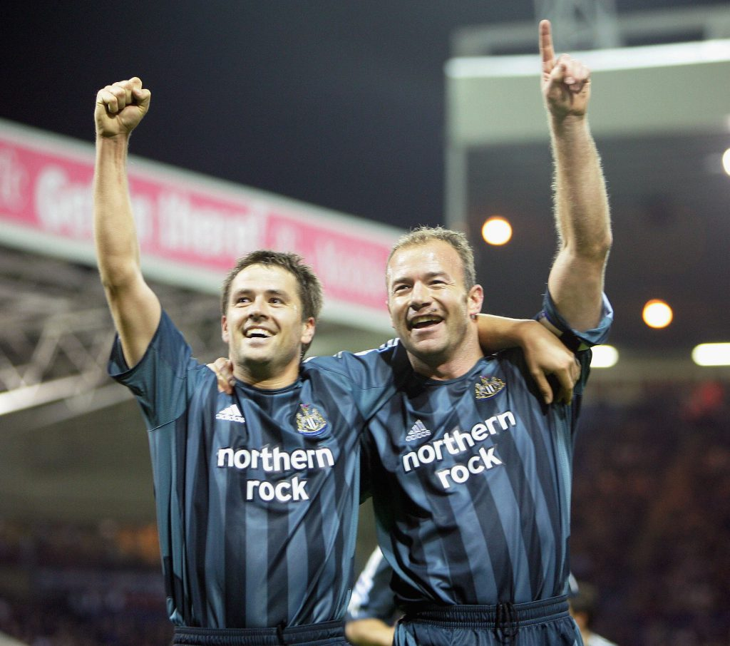 Con Michael Owen nel 2005 (Laurence Griffiths/Getty Images)