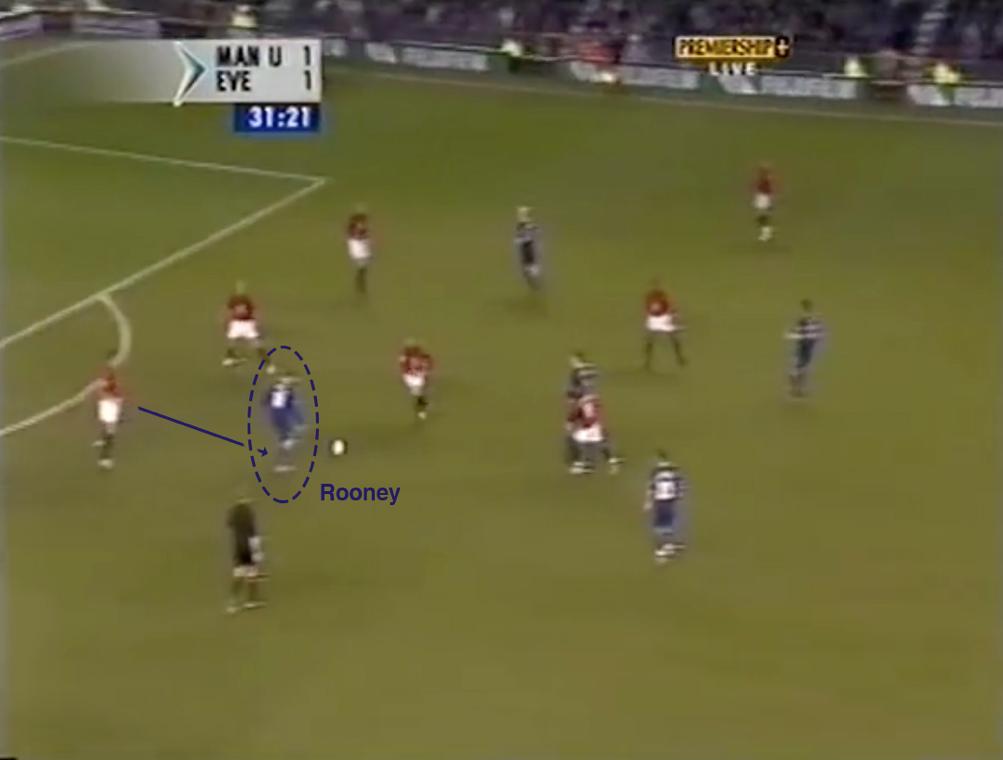 Wayne Rooney in campo