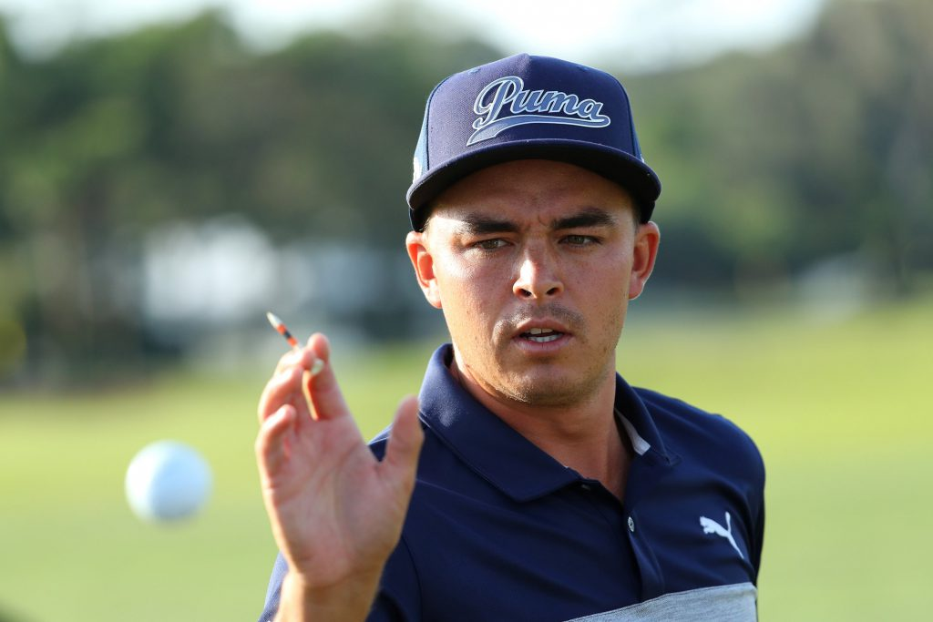 PONTE VEDRA BEACH, FL - MAY 10: Rickie Fowler in action during a practise round for THE PLAYERS Championship on The Stadium Course at TPC Sawgrass on May 10, 2016 in Ponte Vedra Beach, Florida. (Photo by Richard Heathcote/Getty Images)