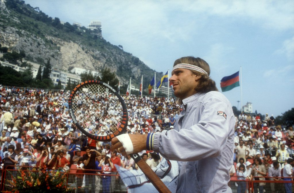MAY 1985: BJORN BORG OF SWEDEN AT THE MONACO OPEN TENNIS TOURNAMENT IN MONTE CARLO. Mandatory Credit: Steve Powell/ALLSPORT