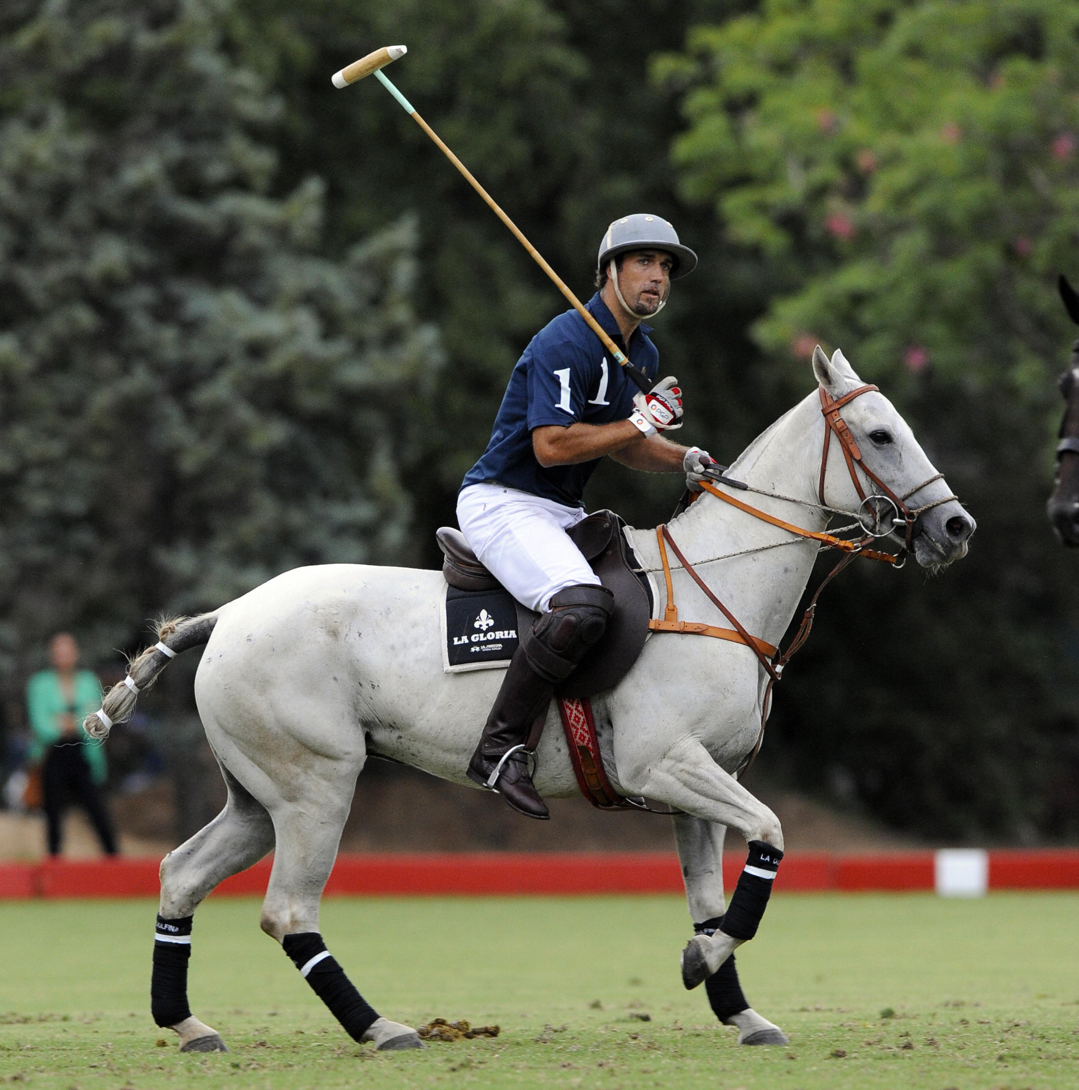 Former Argentine football striker Gabriel Batistuta takes part in a polo match between Loro Piana polo team and Chapelco, in Buenos Aires, on March 3, 2009. Batistuta participates in the IV Argentina Polo Tour tournament for Loro Piana team, led by Adolfo Cambiaso, considered best polo player in the world. AFP PHOTO/DANIEL GARCIA (Photo credit should read DANIEL GARCIA/AFP/Getty Images)