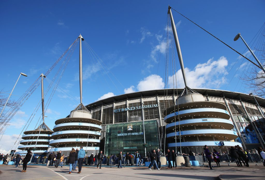 MANCHESTER, ENGLAND - MARCH 05: A general view of the stadium prior to the Barclays Premier League match between Manchester City and Aston Villa at Etihad Stadium on March 5, 2016 in Manchester, England. (Photo by Alex Livesey/Getty Images)