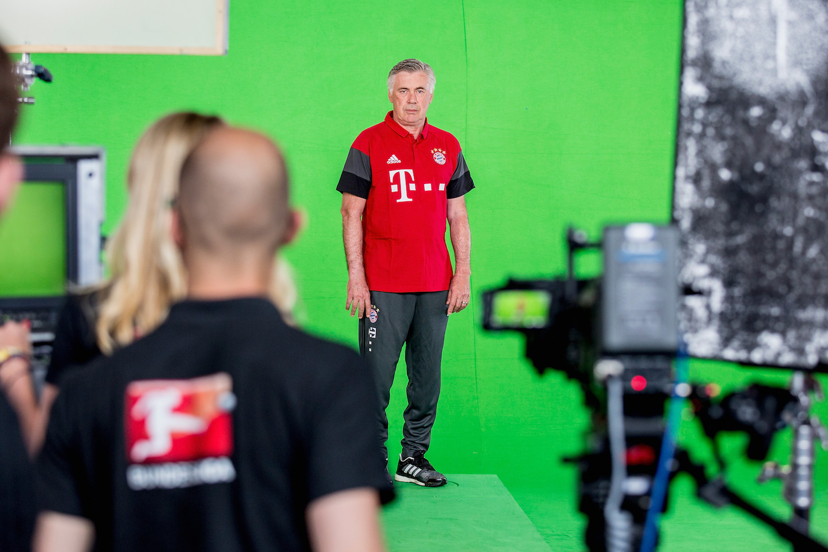 MUNICH, BAVARIA - AUGUST 10: Carlo Ancelotti is seen in a recording studio during the DFL Media Day on August, 10, 2016 in Munich, Germany. (Photo by Jan Hetfleisch/Getty Images For DFL)