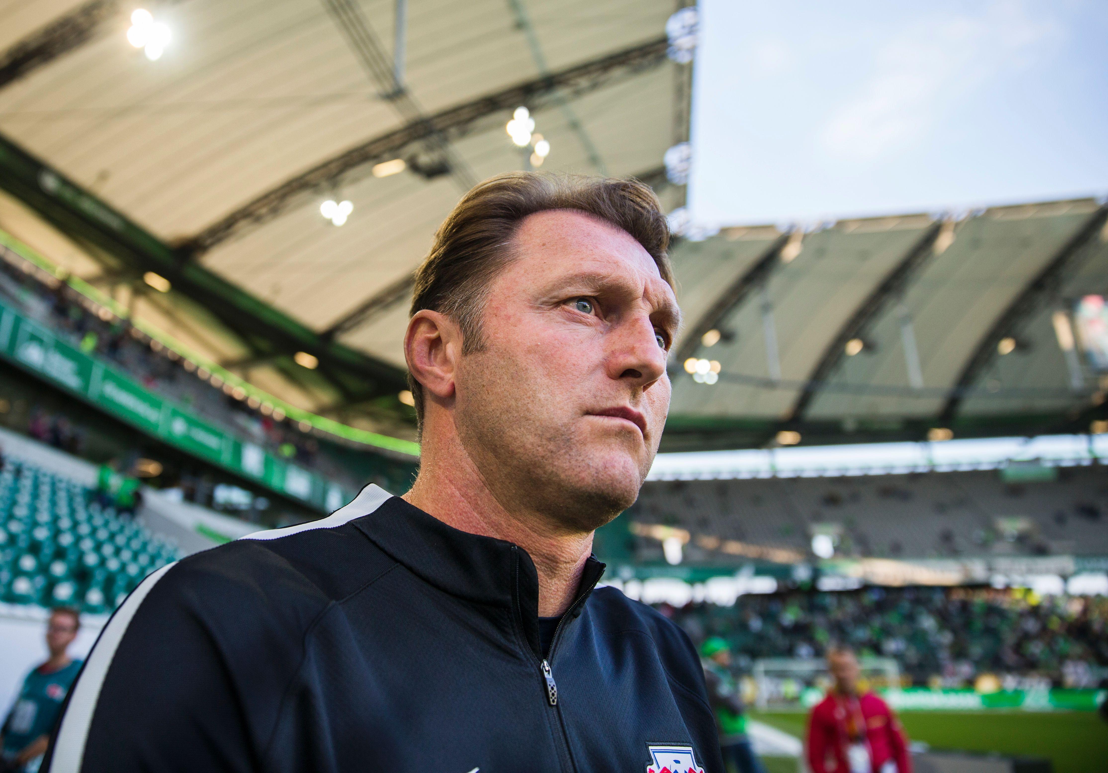 Ralph Hasenhuettl, allenatore del RB Leipzig (Odd Andersen/Afp/Getty Images)