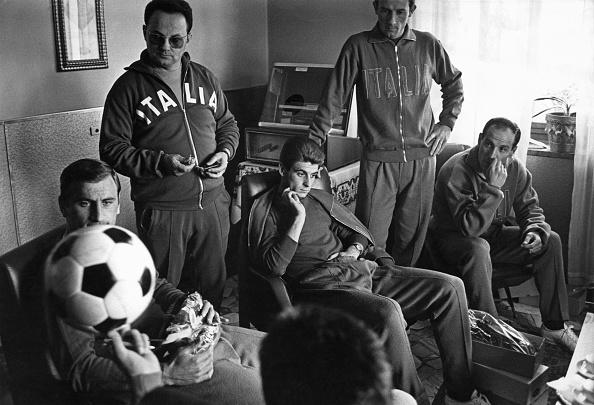 Paolo Barison, Gianni Rivera ed Ezio Pascutti in Nazionale (Giorgio Lotti/Mondadori Portfolio via Getty Images)