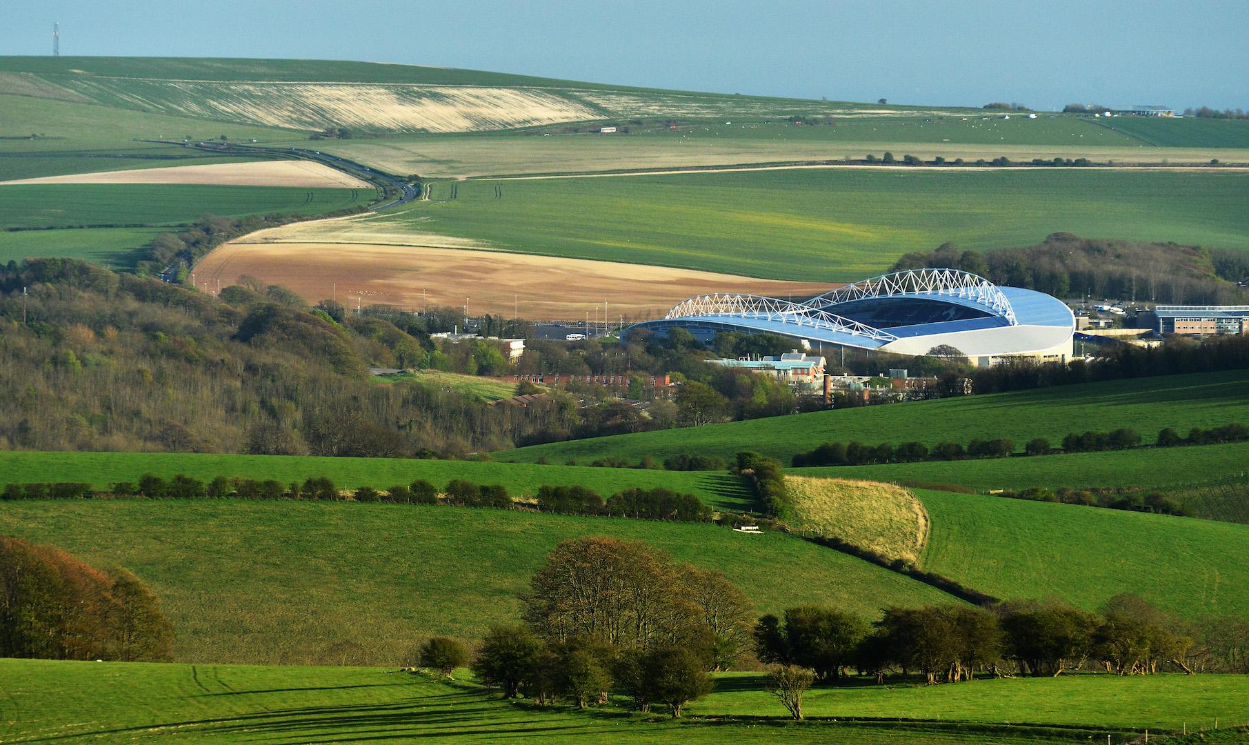 General Views Of Amex Stadium, home To Brighton & Hove Albion at Amex Stadium on April 22, 2013 in Brighton, England.