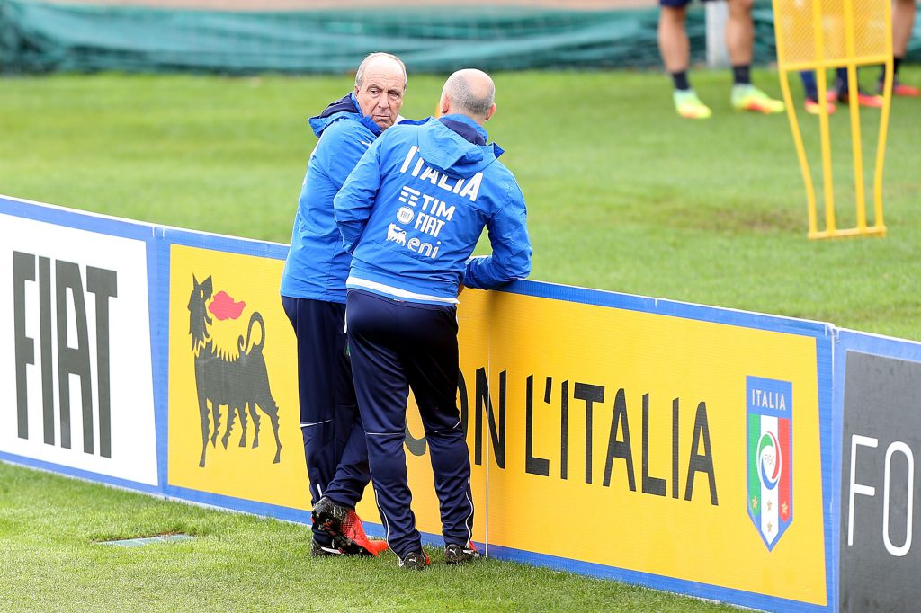 FLORENCE, ITALY - NOVEMBER 22: Giampiero Ventura manager of Italy during a trainig session at Coverciano on November 22, 2016 in Florence, Italy. (Photo by Gabriele Maltinti/Getty Images)
