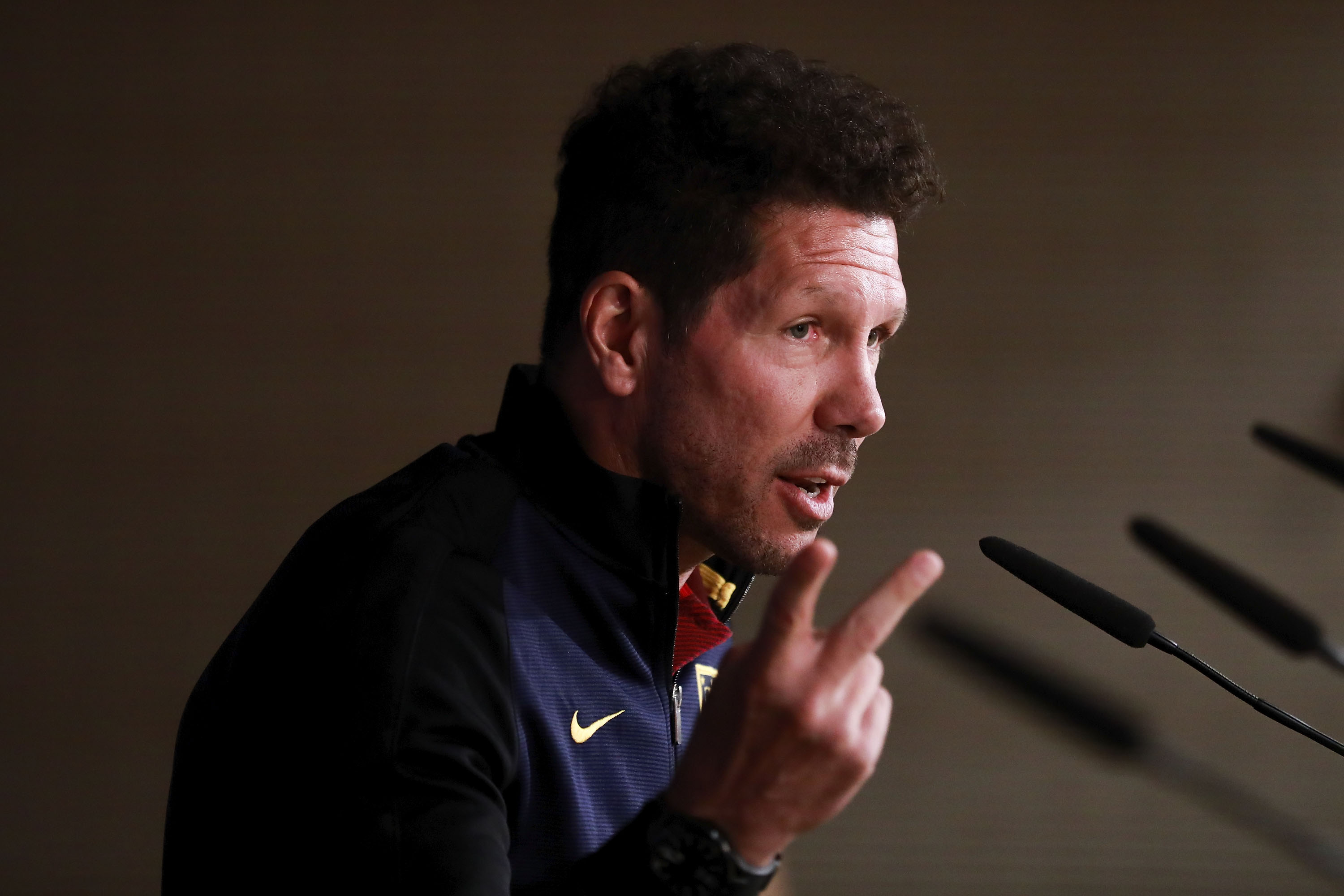 Atletico Madrid Training and Press Conference