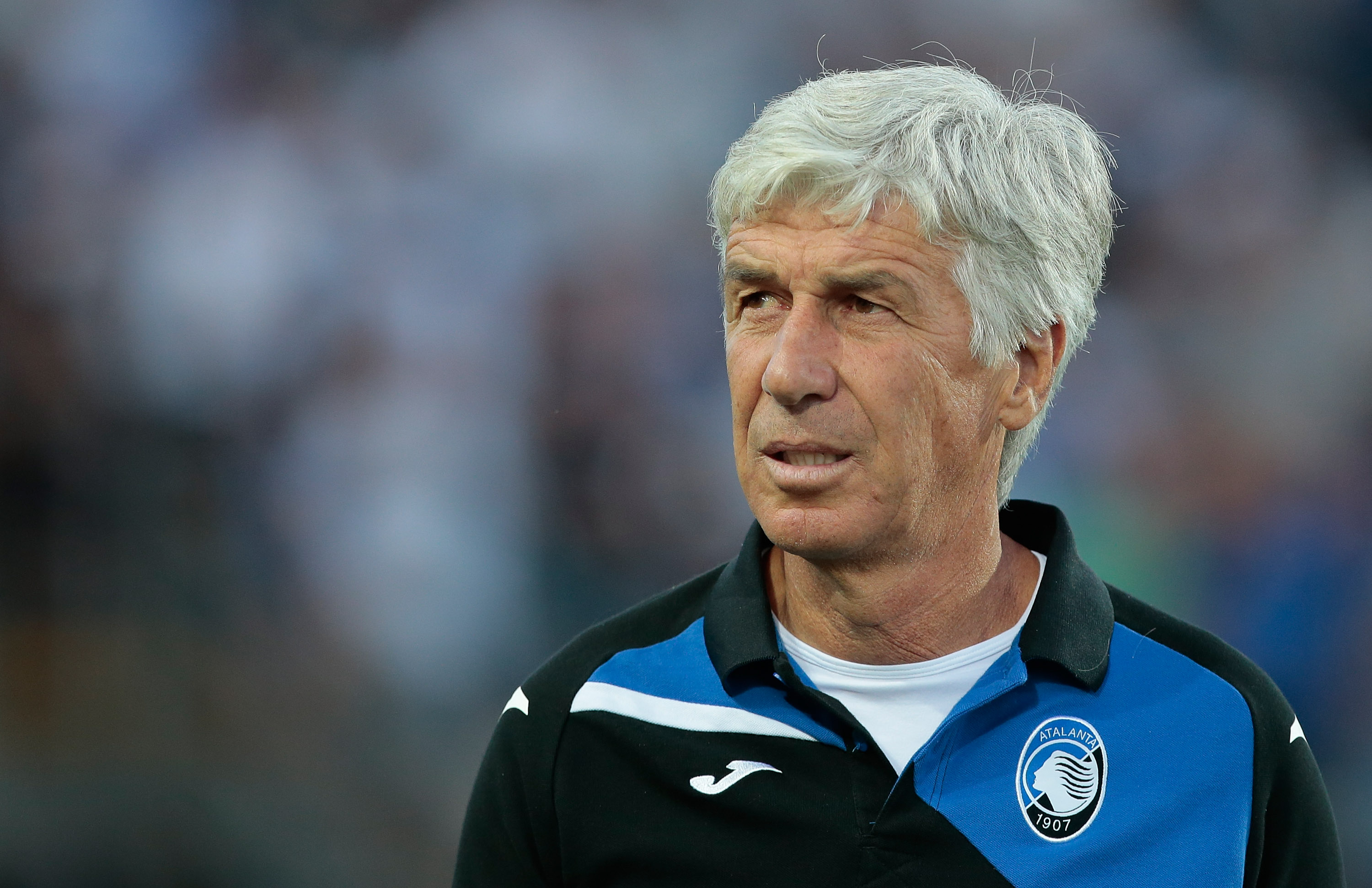 BERGAMO, ITALY - JULY 26: Atalanta BC coach Gian Piero Gasperini looks on before the pre-season friendly match between Atalanta BC and LOSC Lille at Stadio Atleti Azzurri d'Italia on July 26, 2017 in Bergamo, Italy. (Photo by Emilio Andreoli/Getty Images)