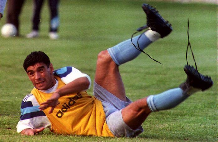Argentine soccer legend Diego Maradona, claiming h