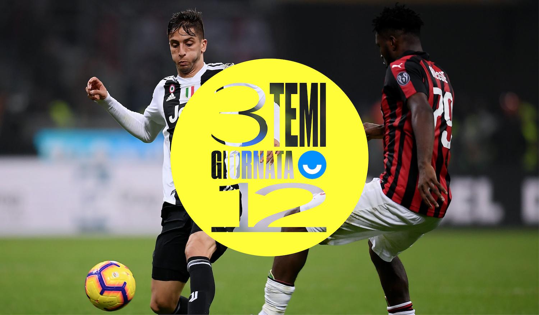 Tre temi sulla 12esima giornata di Serie A